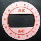 Cadaco All-Star Baseball Game Disk A-E Pink Background