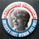Geraldine Ferraro 1984 Political Pin 1st Woman VP