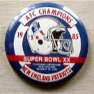 1985 New England Patriots AFC Super Bowl XX PIN 2""