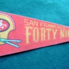 "Vintage NFL Football Mini Pennant 9"" San Francisco 49ers Forty Niners"