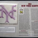 1913 New York Giants Cooperstown Collection Baseball Patch
