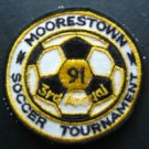 "Moorestown Soccer Tournament 3rd Annual 1991 Cloth Patch 3"" Round"