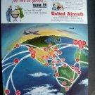 1949 United Aircraft Adv Proof ~ Collier's Post Holiday