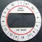 Cadaco All-Star Baseball Game Disk Dick Stuart 1st Base
