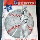 1945 Baseball Register Special Servicemen's Edition 1944 World Series Box Scores