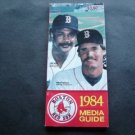 1984 Boston Red Sox Media Information Guide Jim Rice Wade Boggs Cover