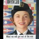 AMERICAN MAGAZINE March 1943 WW II Hitler Nazi  Japan Tokyo Cover~ Jean Colleran