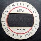 Cadaco All-Star Baseball Game Disk Jim Gentile 1st Base