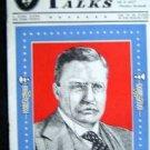 Vintage Oct 1942  Roosevelt Savings Bank Thrift Talks Booklet  TEDDY R Cover NM