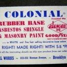 Vintage 1950s Colonial Paint  Advertising  Ink Blotter Unused