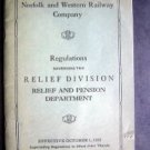 1935 Norfolk & Western Railway Co. Regulations Booklet Relief & Pension Dept