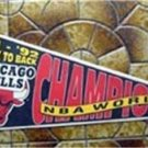 Chicago Bulls NBA Basketball Pennant 1991-92 Season World Champions Back to Back