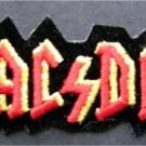 AC/DC Red Music Rock Group Patch 3 1/2""