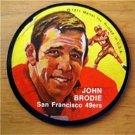 1971 Mattel Instant Replay Record 2 1/2 Football John Brodie San Francisco 49ers
