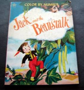 Jack and the Beanstalk Color by Number Book Twinkle Books Inc 1962 Unused