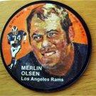 "1971 Mattel Instant Replay Record 2 1/2"" Football Merlin Olsen Los Angeles Rams"