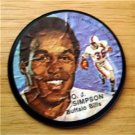 "1971 Mattel Instant Replay Record 2 1/2"" Football O J Simpson Buffalo Bills Gd"