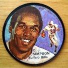"1971 Mattel Instant Replay Record Disc 2 1/2"" Football O J Simpson Buffalo Bills"
