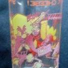 "Yosemite Sam & Speedy Gonzalez Snaps Up the Cheese 4"" Clear Glass  1974 Warner"