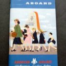 """1956 American Airlines 64 Page Booklet Welcome Aboard 3 1/2"""" x 6"""""""
