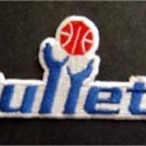 Washington Bullets Basketball NBA Cloth Patch 3 3/4""