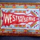 WESTERN RESERVE UNIVERSITY B32 Felt Tobacco Blanket Pennant Style w Fringe 1910s