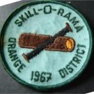 "1967 Orange District Skill-O-Rama Boy Scout BSA Patch 3"" Round"