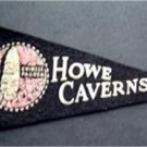 "Vintage Howe Caverns NY Chinese Pagoda Felt Mini Souvenir Pennant 8 1/2"""