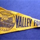 Vintage Valley Forge Penn Wash Memorial Chapel Felt Mini Souvenir Pennant 7 3/4""
