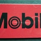 """Mobil Oil Advertising Red Plastic Travel Tag 4 1/4"""" by 2 1/4"""""""