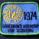 1974 Govenors Roundup for Scouting State of North Carolina Boy Scout BSA Patch