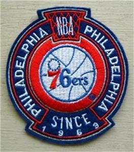 Philadelphia 76ers Basketball Cloth Crest Shield Patch 3 1/2""