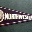 "Vintage Northwestern University Mini Pennant Paper Sticker 8"" by 3 1/2"" Unused"