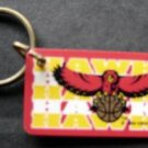 Atlanta Hawks NBA Basketball Plastic Key Chain Tag Express 1994 Old Logo 2 1/4""