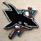 San Jose Sharks NHL Hockey Die Cut Patch 2 1/2""