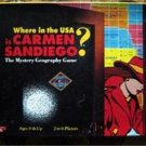 Where in the USA is Carmen Sandiego Geography Board Game 1993