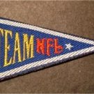 "Team NFL Logo Mini Pennant Cloth Patch 3"" x 1 1/2"""