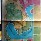 Hartford Times ~ Original news page #9E ~  Map Southeast Asia December 22 1966