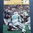 1977-1979 Sportscaster Card Football Jets vs. Colts 01-20