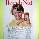 1930s Beech-Nut Magazine Tear Sheet Advertise Ad