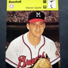 1977-1979 Sportscaster Card Baseball Warren Spahn Milwaukee Braves 23-23