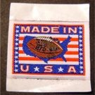 """NFL Football Made in America Cloth Patch 1 3/4"""" x 2 1/2"""""""
