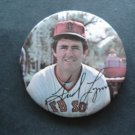 "1970's Boston Red Sox Pin FRED LYNN  3"" with Facsimilie Autograph"