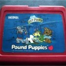 1987 Pound Puppies Red Plastic Lunch Box No Thermos