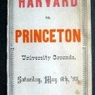 Antique May 1893 Original Harvard vs Princeton Ivy College Baseball Score Card