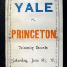 Vintage Yale vs Princeton University Score Card June 6th 1891