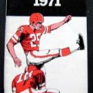 1971 College and Professional Football Booklet Esso Adv