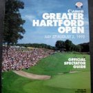 Canon Greater Hartford Open GHO Golf  Official Tourn Guide 1992 Signed