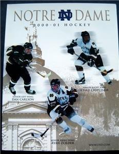 Notre Dame University NCAA College Hockey Program 2000-01