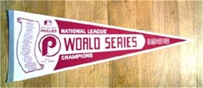 1983 Philadelphia Phillies World Series Pennant Full Size